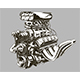 Detailed Hot Road Engine with Skull Tattoo - GraphicRiver Item for Sale