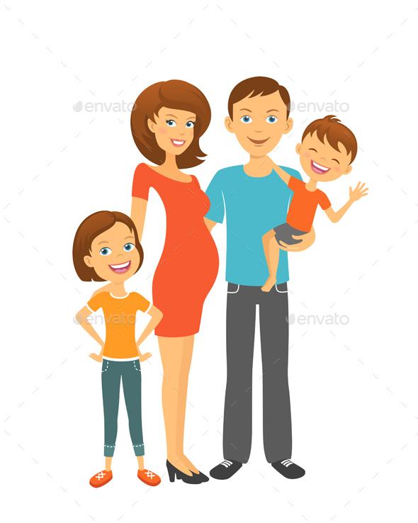 Happy parents with children by teneresa graphicriver happy parents with children people characters altavistaventures Image collections