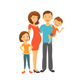 Happy Parents with Children - GraphicRiver Item for Sale