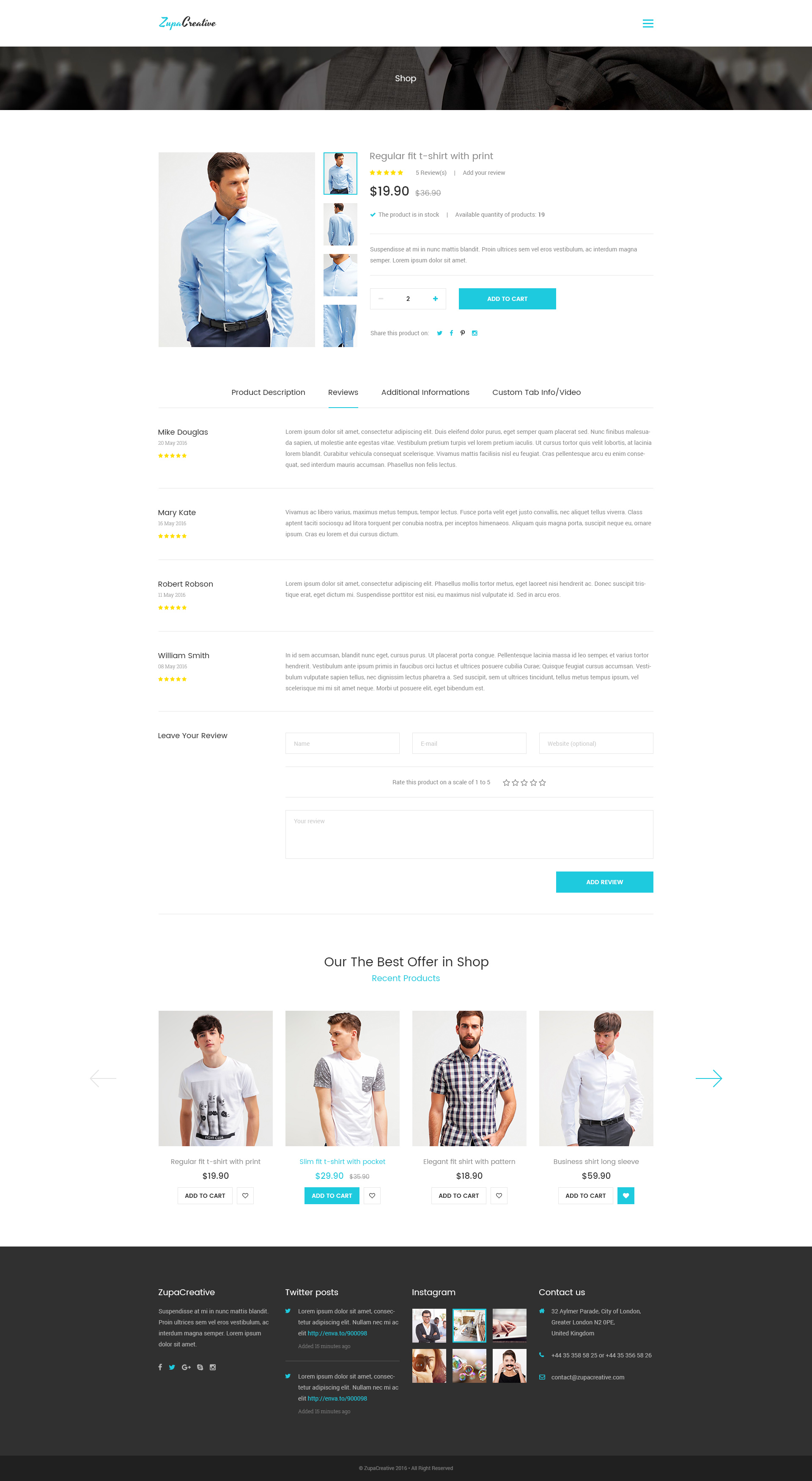 ZupaCreative Business and Creative Agency PSD Template by artbart – Product Description Template