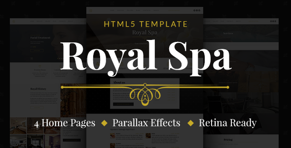 Marvelous Royal Spa — Luxury Hotel & Spa HTML5 Template