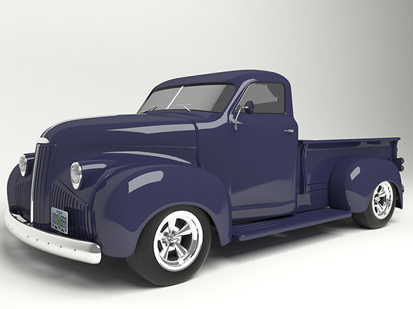 3D model pickup based on Studebaker M5 1948. - 3DOcean Item for Sale