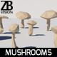 Lowpoly Mushrooms - 3DOcean Item for Sale