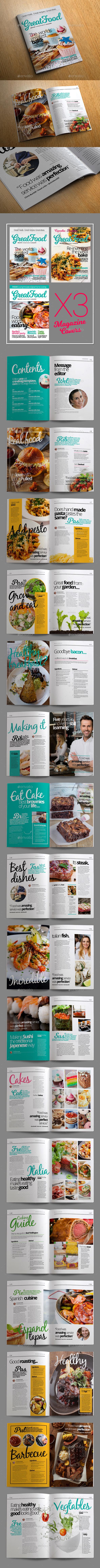 Food Magazine Templates - Magazines Print Templates