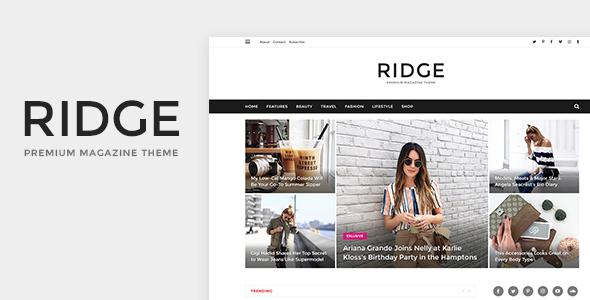 Ridge - Magazine PSD Template