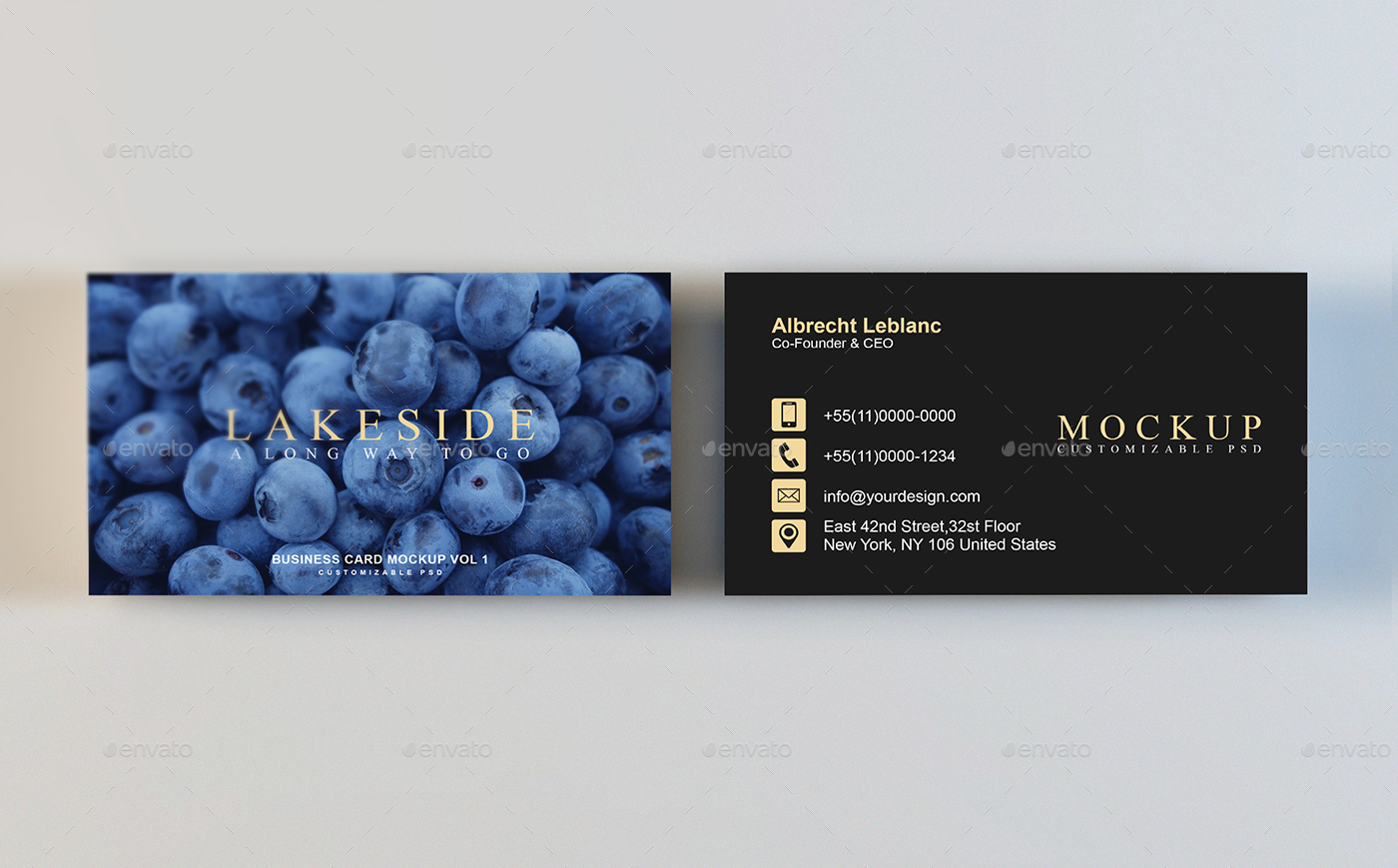 Business card mockup vol 1 by honnumgraphicart graphicriver business card mockup vol 1 4g reheart Image collections