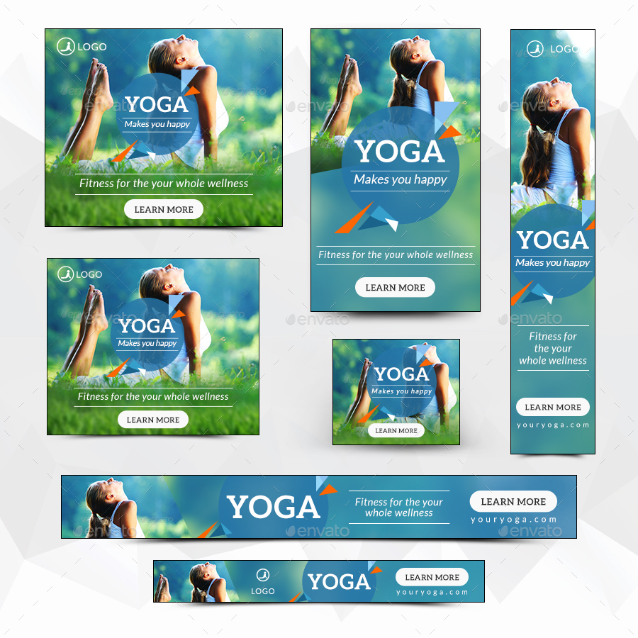 Yoga Fitness Banners By Hyov Graphicriver