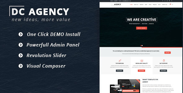 DC Agency –  Agency WordPress Theme
