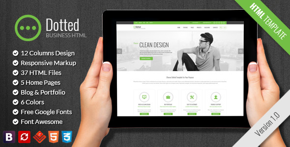 Dotted - Business & Corporate HTML Template