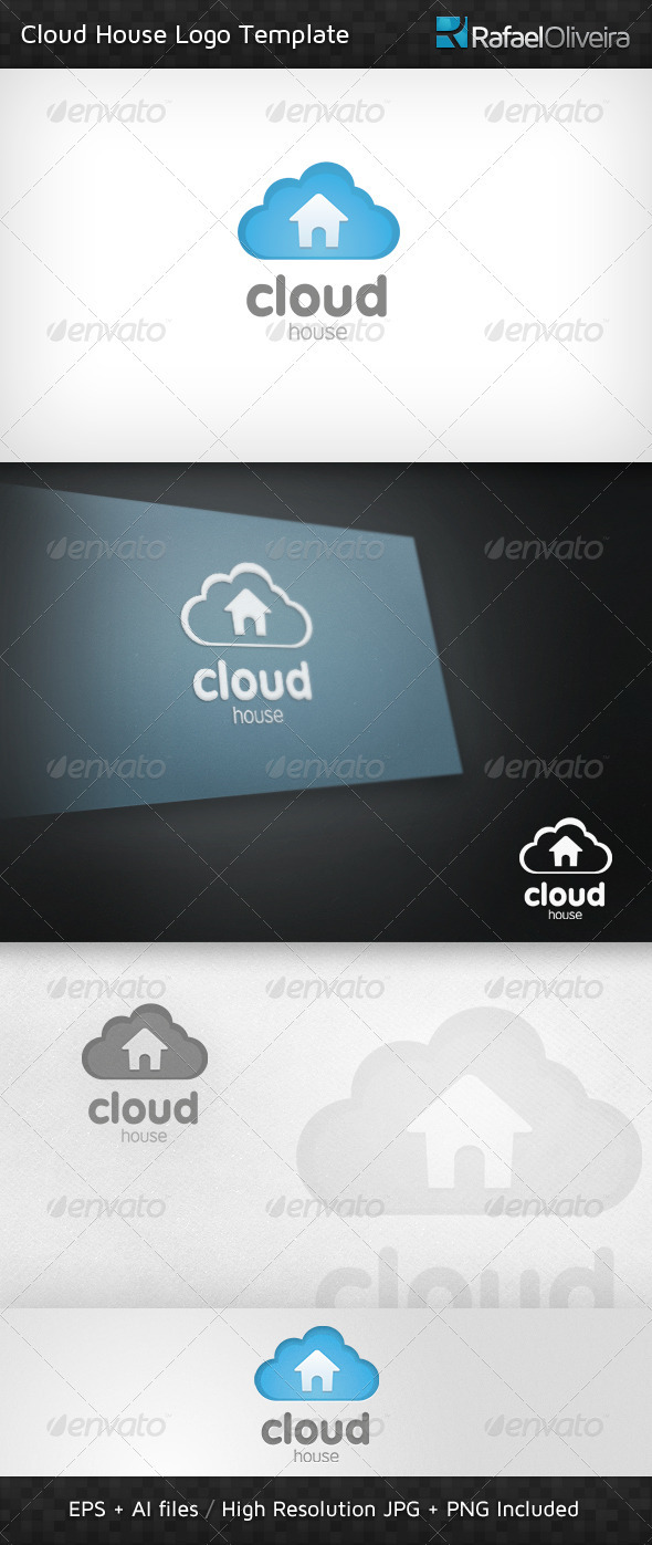 Cloud House Logo Template - Nature Logo Templates