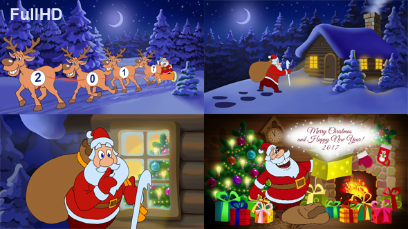 Merry Christmas And Happy New Year Animated Card by cartoontower ...
