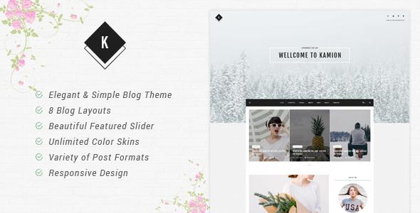 Kamion - Responsive WordPress Blog Theme