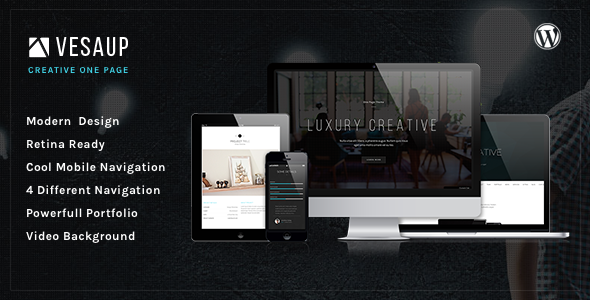 VesaUP Parallax One Page WordPress Theme