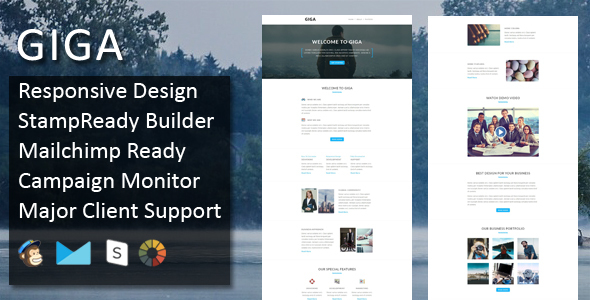 GIGA - Multipurpose Responsive Email Template + Stampready Builder - Email Templates Marketing