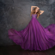A woman in a violet dress. - PhotoDune Item for Sale