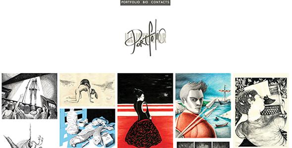 Illustrator – A Responsive Minimal Portfolio