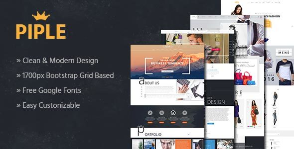 Piple – Multipurpose Business & E-Commerce Template