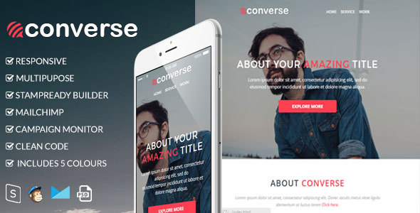 Converse – Responsive Email Template