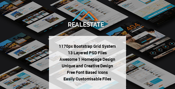 RealEstate – Multi Purpose PSD Template