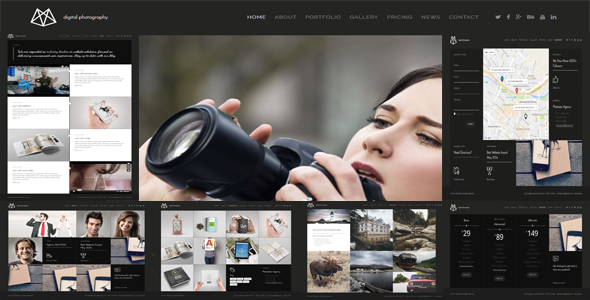 Photostar – Multipurpose Photography Portfolio Joomla Theme