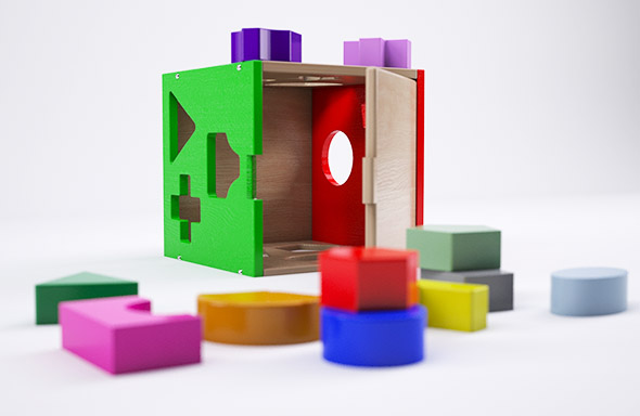 Baby Educational Cubes - 3DOcean Item for Sale
