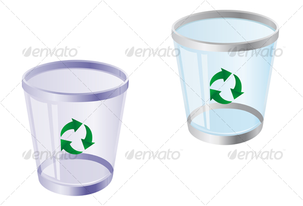 Glossy recycle bin - Decorative Vectors