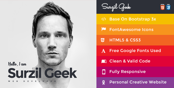 Geek – Personal Resume & Portfolio Template