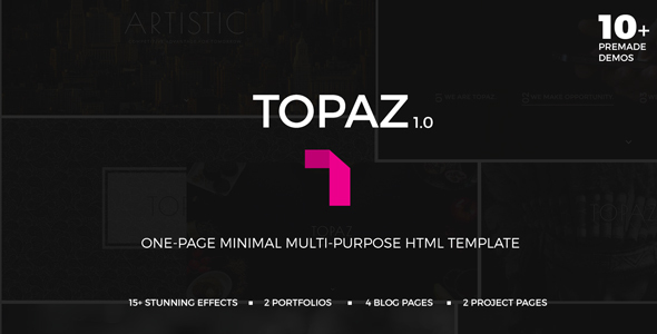 Topaz | Multi-purpose One Page Minimal Template
