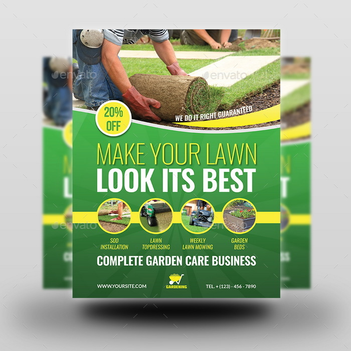 Garden services flyer template vol 4 by owpictures for Gardening services