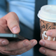 Businessman Hands with Smartphone and Coffee - VideoHive Item for Sale