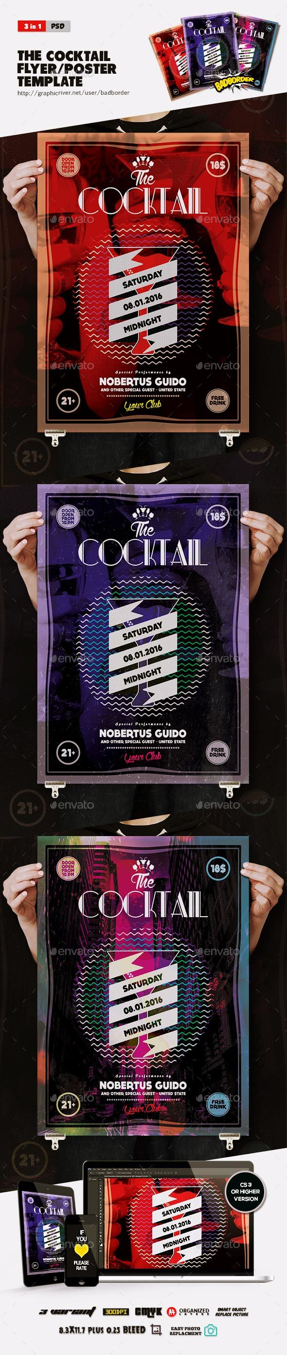 The Cocktail Flyer/Poster - Clubs & Parties Events