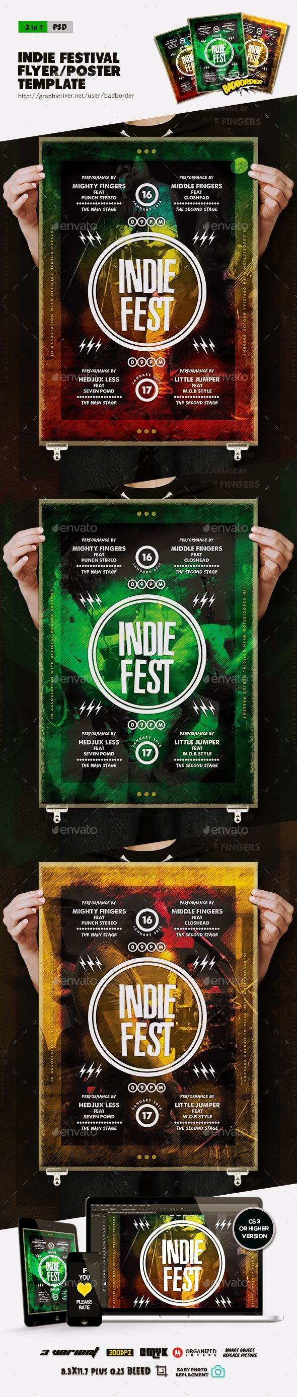 Indie Festival Flyer/Poster - Events Flyers