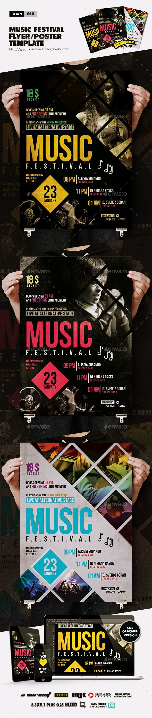 Music Festival Flyer/Poster  - Events Flyers