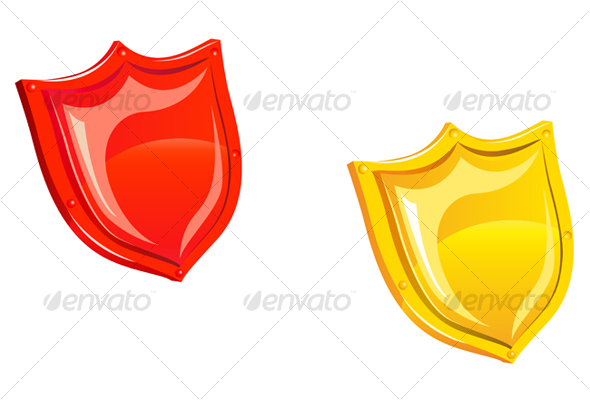 Glossy security shield - Objects Vectors