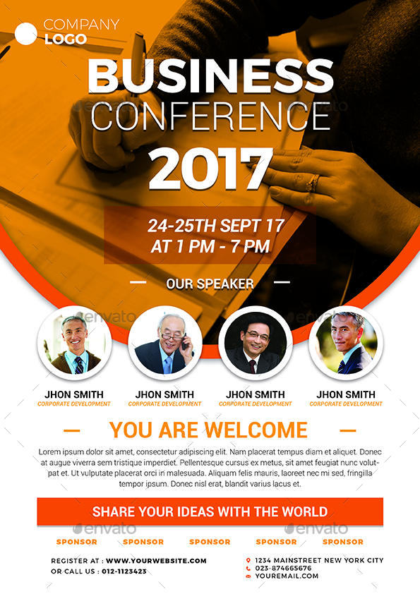 Conference Flyer by vynetta | GraphicRiver