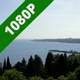 Black Sea Bay with Coastal Town - VideoHive Item for Sale