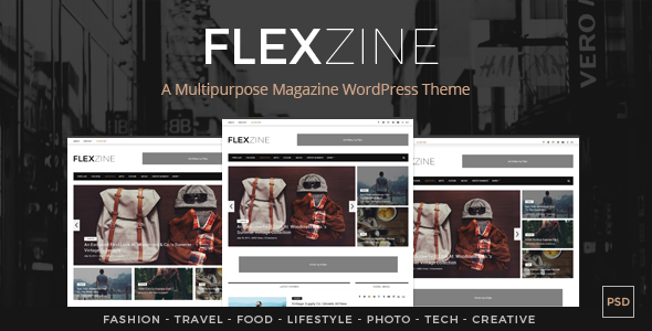 FlexZine –  Magazine PSD Template