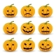 Pumpkins Set For Halloween On a White Isolated - GraphicRiver Item for Sale