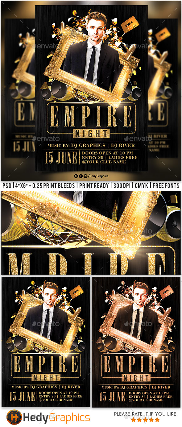 Empire Night - Flyer Template - Clubs & Parties Events