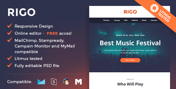 Rigo – Responsive Email and Newsletter Template