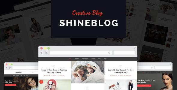 ShineBlog - Blog & e-Commerce Template - Personal Site Templates