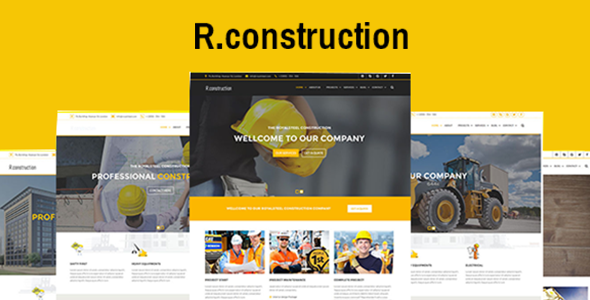 R.construction- Construction HTML Template