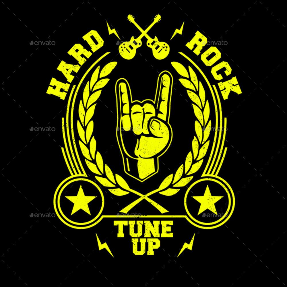 Hard Rock T Shirt Design By Durro Graphicriver