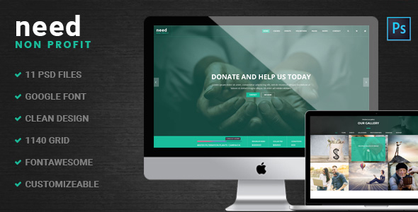 Need – Multipurpose Nonprofit PSD Template