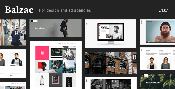 Balzac - An Ultra Creative HTML5 Template for Agencies  - Creative Site Templates