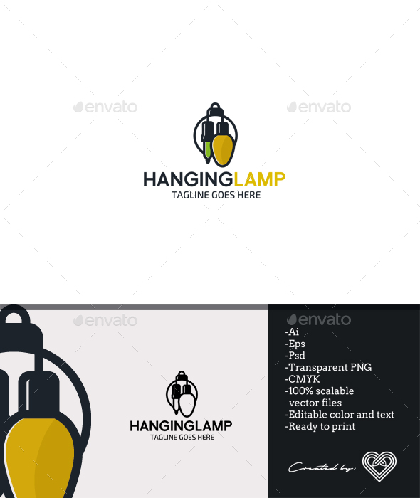 Hanging Lamp - Objects Logo Templates