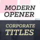 Modern Opener // Corporate Titles - VideoHive Item for Sale