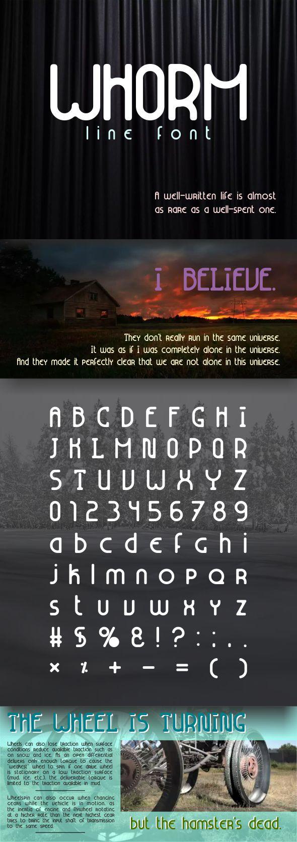 Whorm (line font) - Condensed Sans-Serif