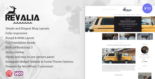 Revalia – Multi-Concept WordPress Blogging Theme