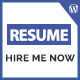 Hired - Professional Resume WordPress Template - ThemeForest Item for Sale